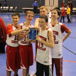 CCA Boys Basketball 2013 St. Peters Tournament Champions